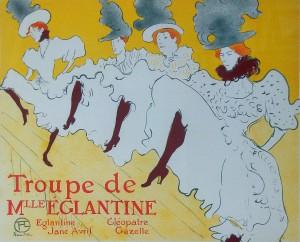 Troupe de Mlle Eglantine gekleurde seriegrafie