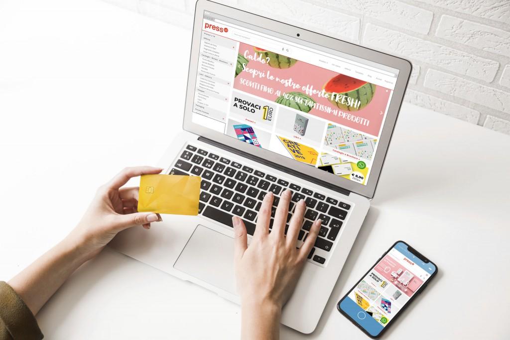 Il sito di PressUP su desktop e mobile