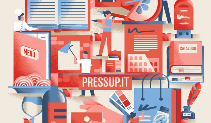 PressUP illustrazione spot video Daniele Simonelli